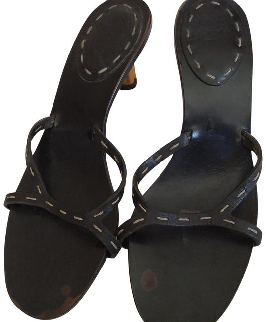 Item - Black Scuffs On Foot Bed Other Wise Euc Sandals Size US 6.5 Regular (M, B)