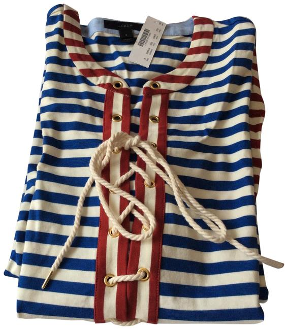 Item - Red Blue&cream Long Casual Maxi Dress Size 4 (S)