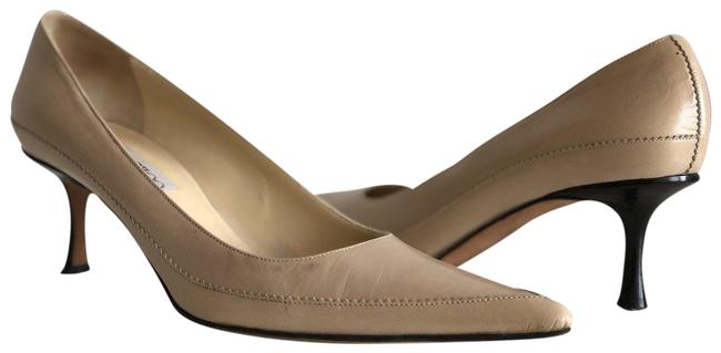 Item - Cream Leather Pointed Pumps Size EU 37.5 (Approx. US 7.5) Regular (M, B)