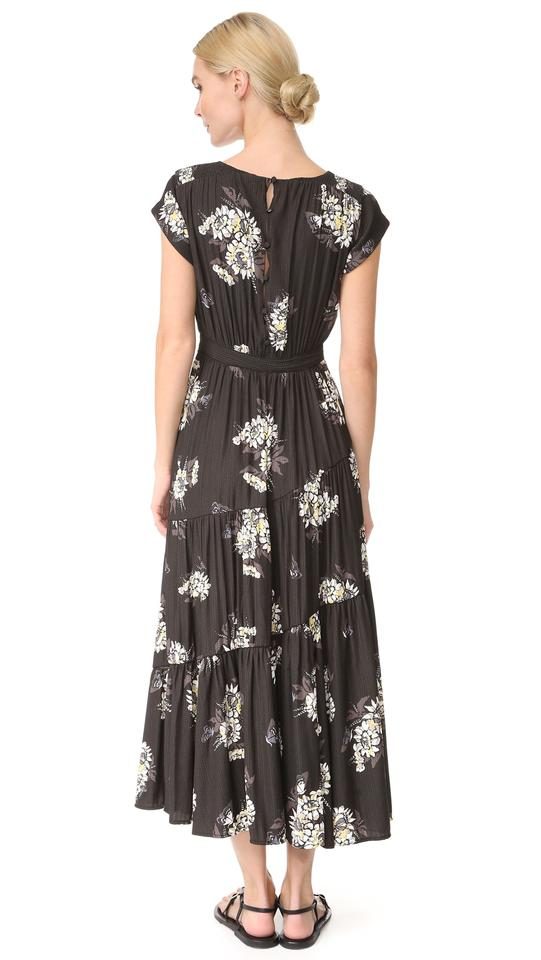 a3f4eae33af Free People Black Combo All I Got Floral Printed Mid-length Night ...