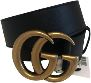 Gucci NWT Size 95/38 Leather belt with Double G buckle