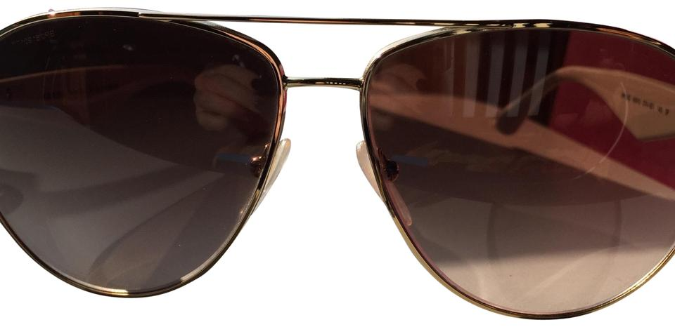 e1a286ec6644e Prada Gold White. Double Spr53q Bar Polarized Aviator Sunglasses ...