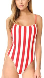 Solid & Striped Chelsea red and white one piece