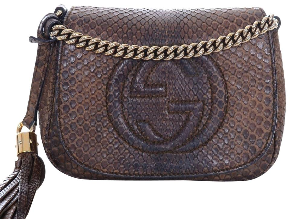 04694db7c45 Gucci Disco Soho Limited Edition Python Chain Strap Purse Leather ...