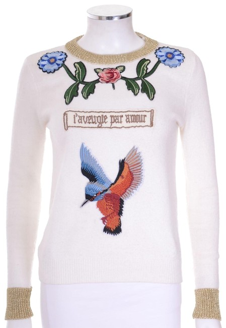 Preload https://item3.tradesy.com/images/gucci-hummingbird-floral-embroidered-gold-trim-ivory-sweater-23189312-0-1.jpg?width=400&height=650