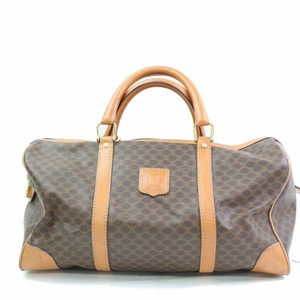 Céline Keepall Boston Duffle Luggage Brown Travel Bag