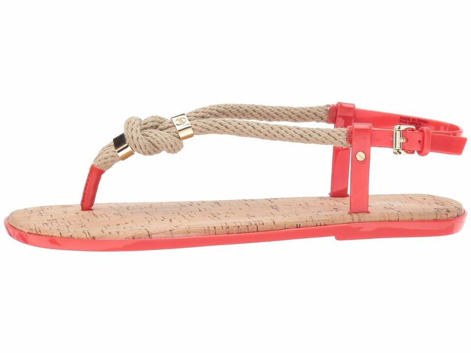 ed8a3a9cc014 Michael Kors Grenadine Red Holly Jelly Ankle Strap Sandals Size US 8 ...