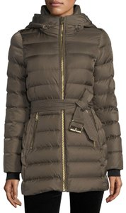 Burberry Limefield Hooded Belted Puffer Jacket Coat