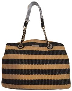 Kate Spade Straw Tote in Natural and Black