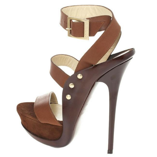 Item - Brown Leather and Suede 'halley' Sandals Platforms Size EU 36 (Approx. US 6) Wide (C, D)
