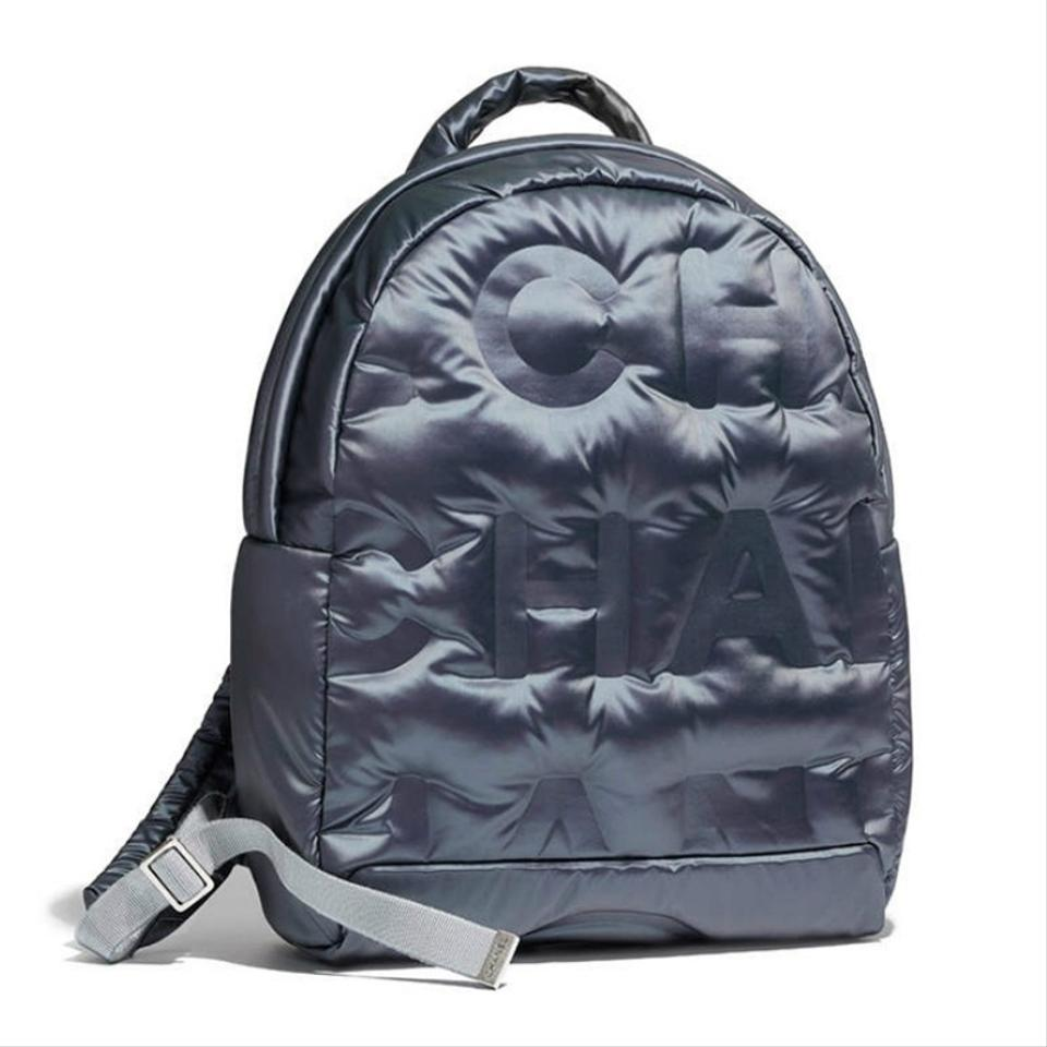 a0876fd8a54b Chanel Backpack 2017 Embossed Doudoune Navy Blue Nylon Backpack ...