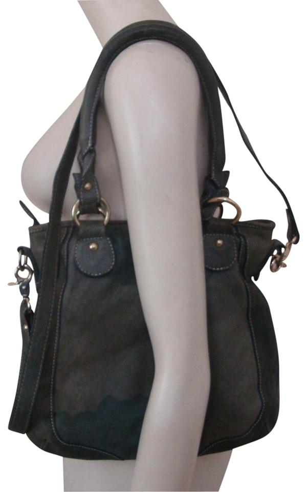 Guia S Italy Leather Tote Slouch Shoulder Bag