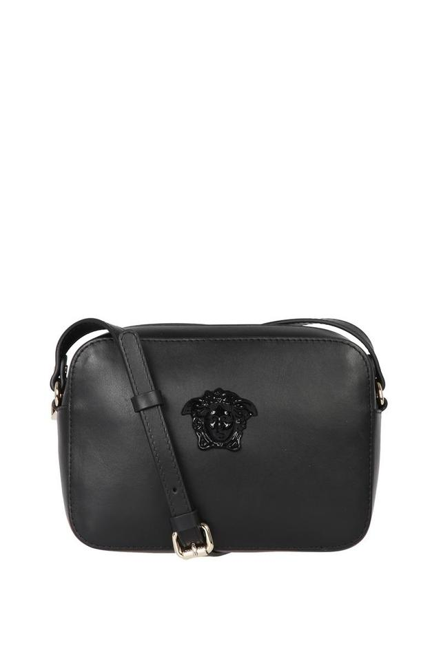 c01a8a78052a Versace Medusa Camera Black Leather Cross Body Bag - Tradesy