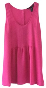 Kenneth Cole Pink Pleated Top Gernanium