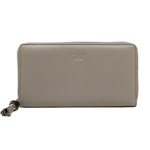 Gucci Gucci Women's Bamboo Tassel Leather Wallet 307984 Gray