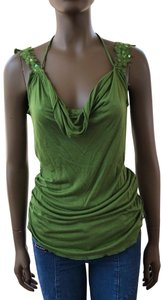 Heart Moon Star Top green