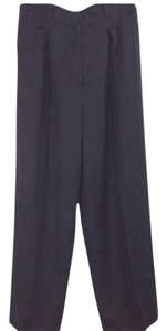 Gucci Vintage Linen Slacks Trouser Pants Black