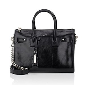 Saint Laurent Sac De Jour Baby Ysl Chain Strap Black