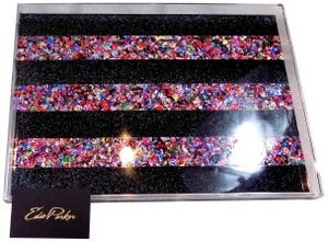 Edie Parker Edie Parker Obsidian Sand-Rainbow Confetti Black and Multi Acrylic Tra