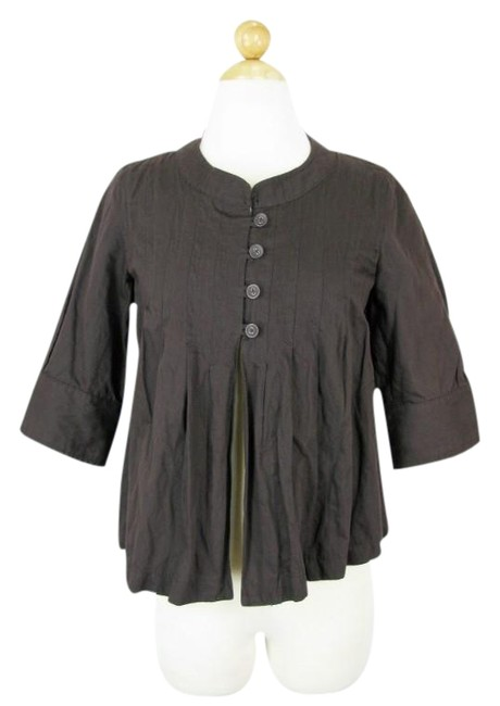 Item - Brown Pleated Cropped Jacket Size 4 (S)