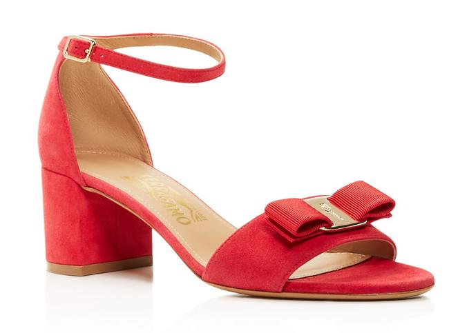 Item - Pamplona Red Vara Bow Ankle Strap Sandals Size US 6 Wide (C, D)