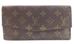 Louis Vuitton Monogram Large Long Flap Wallet vintage sarah prototype zip