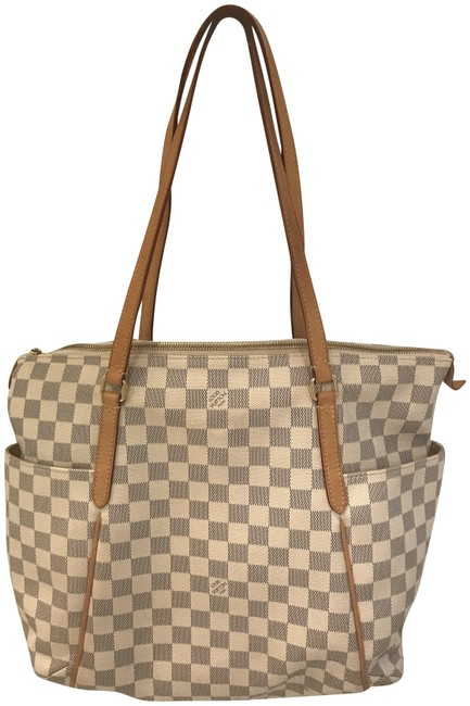 Item - Totally Mm Damier Azur Cream and Gray Canvas Tote
