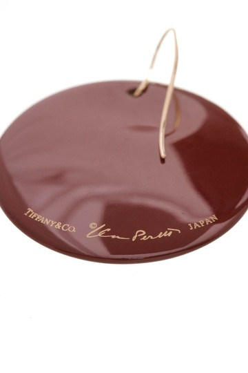 70eab7d23 Tiffany & Co. Red Hardwood Lacquer Round 18k Gold Earrings - Tradesy