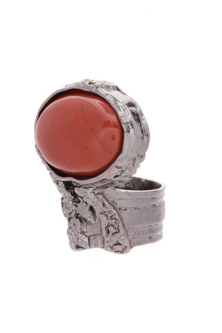 Item - Silver Red Arty - Silver/Red Ring