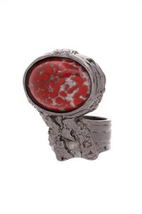 Saint Laurent Yves Saint Laurent Arty Ring - Silver/Red
