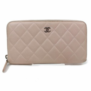 cc0c92272acb Chanel 100% Authentic Chanel Quilted Beige Zippy Clutch Wallet
