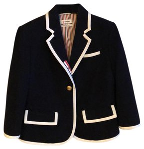 Thom Browne Navy Blue Blazer