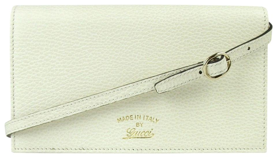 cadf41395fd Gucci Creamy White Swing Leather Crossbody Clutch Wallet 368231 9022 Image  0 ...