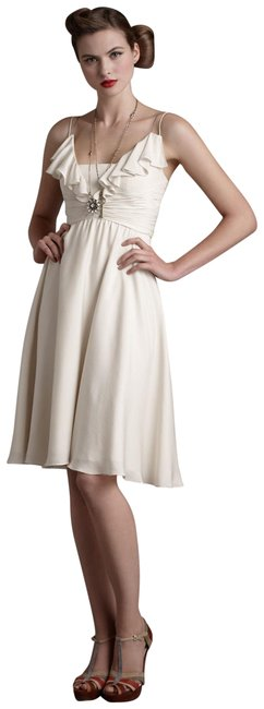 Item - Ivory Couplet Mid-length Cocktail Dress Size 8 (M)