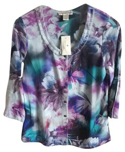 Christopher & Banks Watercolor Nwt Cardigan