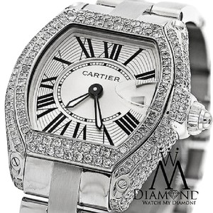 Cartier Ladies Cartier Roadster W62016v3 Stainless Steel Watch Diamond Case
