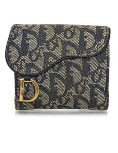 Dior Christian Dior Vintage Blue Mini Diorissimo Canvas Saddle Compact Wall
