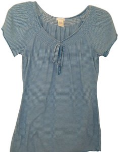 Maurices Striped Sleeve T Shirt Blue/White