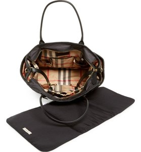 Burberry Black and gold with Burberry Check-print lining. Diaper Bag