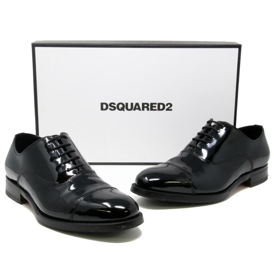 Dsquared2 Black Signature Men S Vernice Patent Leather Laced Up