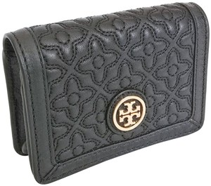 Tory Burch Tory Burch Bryant Foldable Card Case Quilted Leather Black