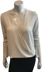Veronica M Wrap Gray Dvf Joie Top IVORY