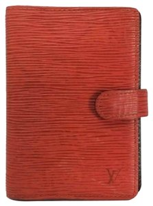 Louis Vuitton Louis Vuitton Small Ring Red Epi Agenda PM Cover
