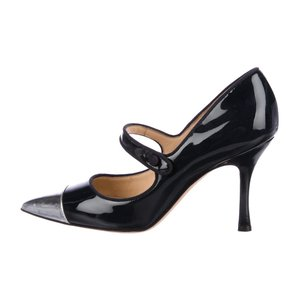 Manolo Blahnik navy, silver Pumps