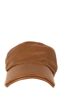 Hermès Hermès Tan Perforated Leather Baseball Hat