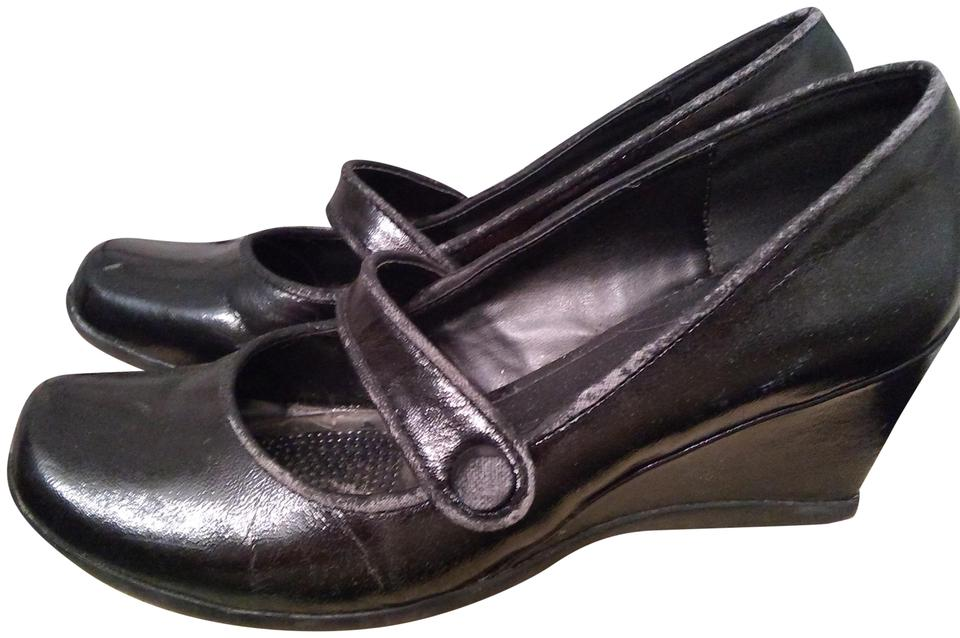 Kenneth Reaction Cole Reaction Kenneth Black Slip On Wedges 97df24