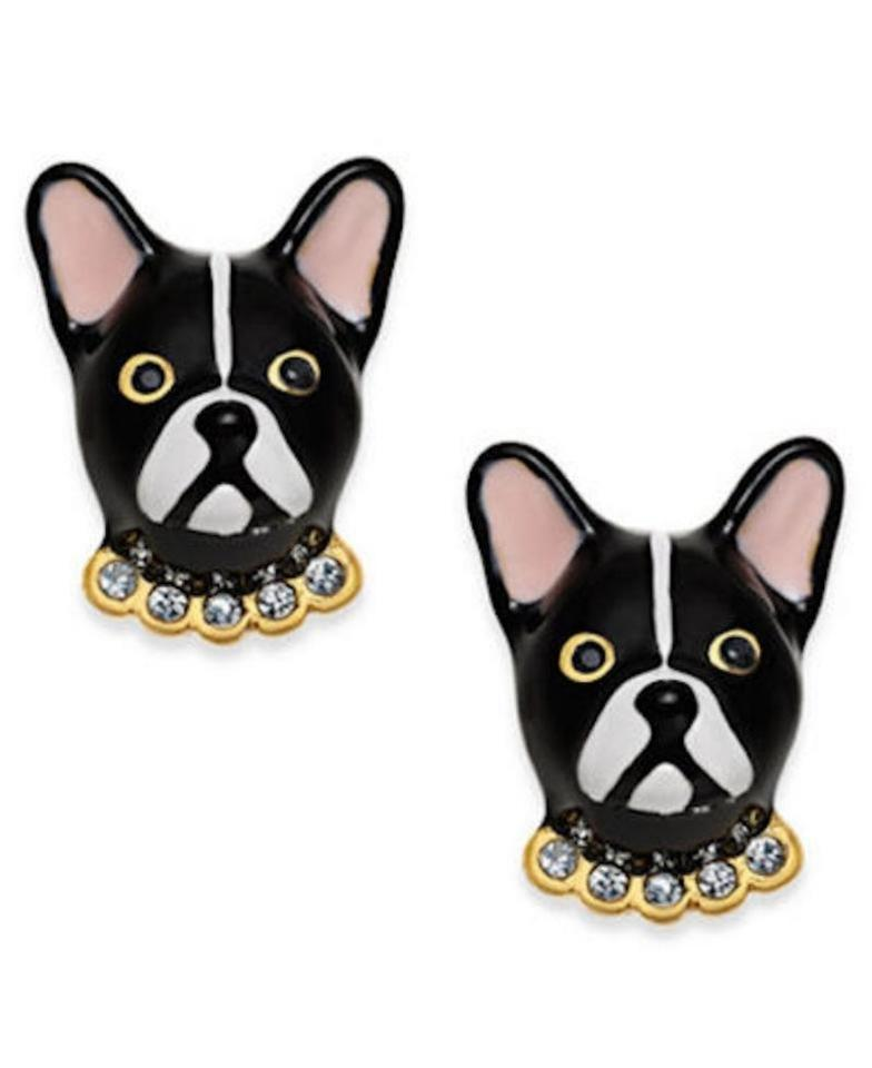 antoine black kate stud earrings ma cherie dog multi i blackmulti frenchie spade