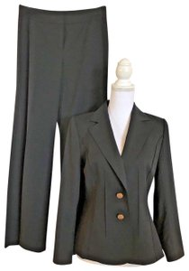 Escada ESCADA Black Pants Suit Size 36 Small Decorative Buttons and Seaming W