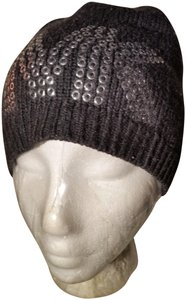 "MICHAEL Michael Kors Michael Kors Woman's ""Chic"" Luxe SILVER STUD Beanie Hat"