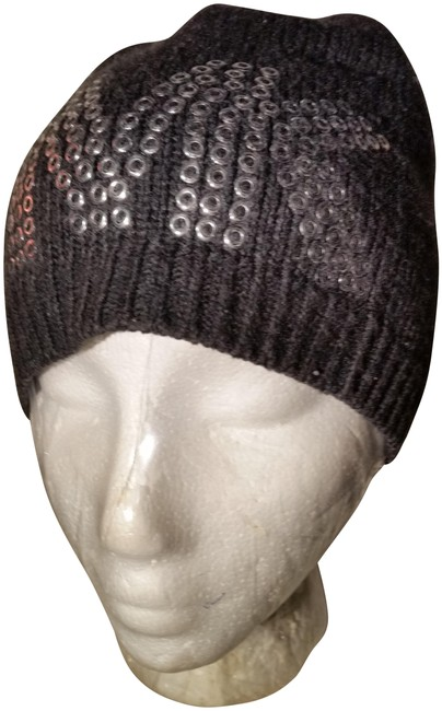 """Item - Grey with Silver Metalic Studs Woman's """"Chic"""" Luxe Beanie Hat"""